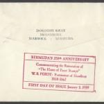 1959 Bermuda 350th Anniversary reverse FDC