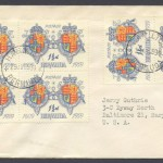 1959 350th Anniversary of Bermuda 1 half d FDC