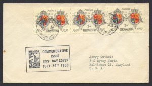 1959 350th Anniversary of Bermuda 3d FDC