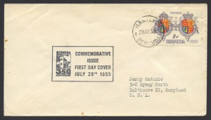 1959 350th Anniversary of Bermuda 8d FDC