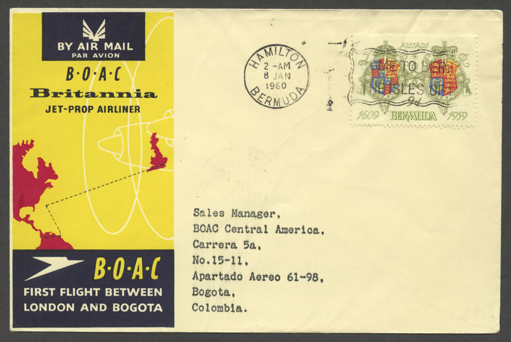 1960 BOAC London and Bogota First Flight