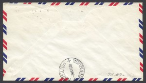 1962 First Jet Air Mail Service Miami to Bermuda reverse FF