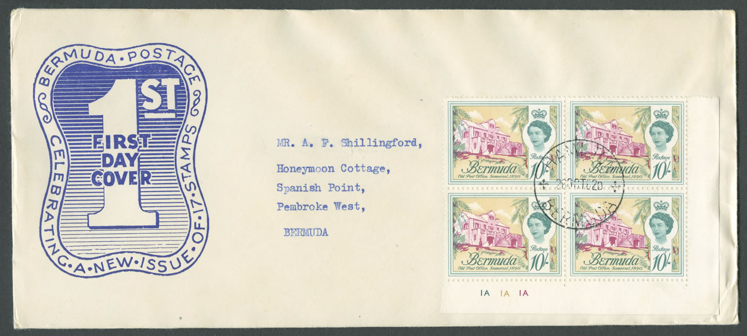 1962-10-26-buildings-of-bermuda-10sh-4-block-fdc-hi