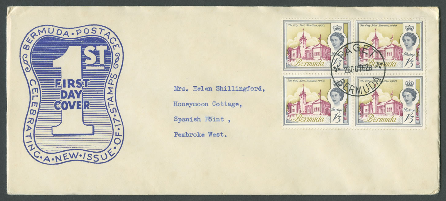 1962-10-26-buildings-of-bermuda-1sh3d-4-block-fdc-hi