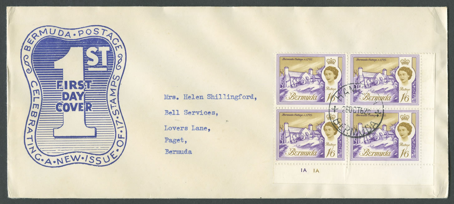 1962-10-26-buildings-of-bermuda-1sh6d-4-block-fdc-hi