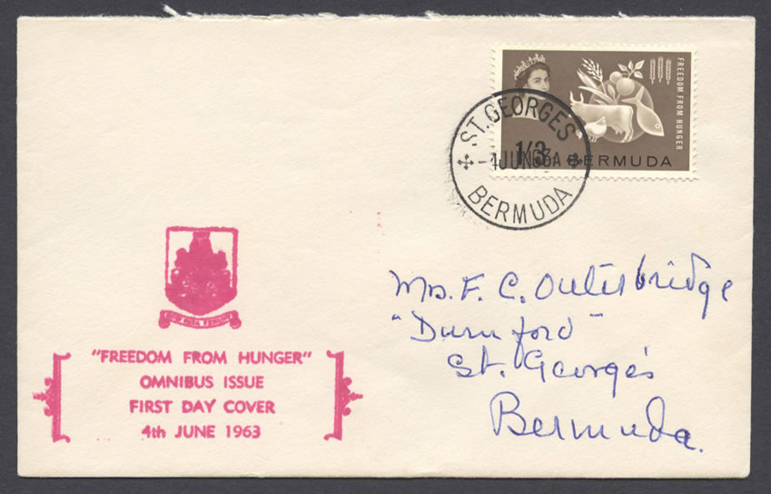1963 Freedom from Hunger Omnibus issue FDC