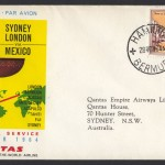 1964 Qantas Sydney London via Mexico FF