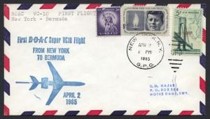 1965 First BOAC Super VC10 Flight New York to Bermuda FF