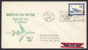 1965 First BOAC Super VC10 Flight UN New York to Bermuda FF