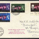 1966 Winston Churchill Commemoration Set FDC
