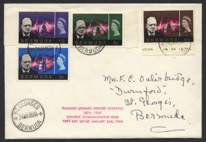 1966 Winston Churchill Commemoration Set FDC