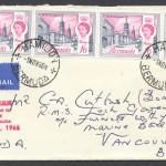 1966-11-01-buildings-of-bermuda-4x1s6d-strip-h-fdc