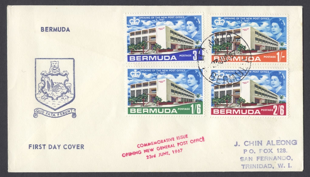 1967 Opening of the New Post Office FDC