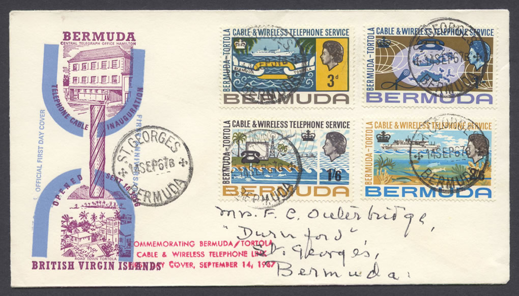 1967 Cable & Wireless Telephone Service FDC