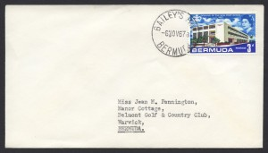 1967 Bailey's Bay CDS New Post Office 3d cover