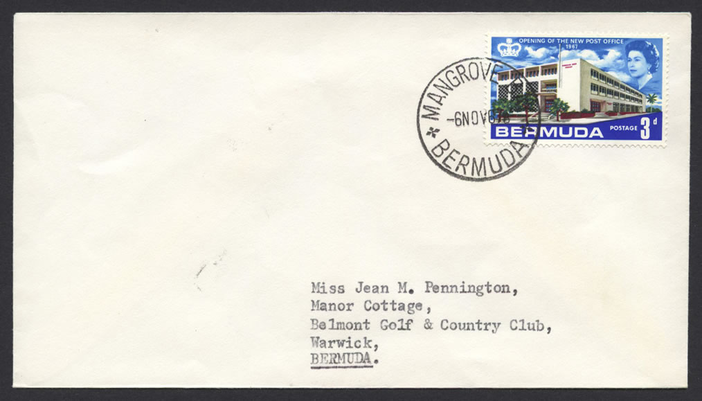 1967 Mangrove Bay CDS New Post Office 3d cover