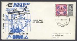 1968 British Eagle Inaugural Flight return to London FF