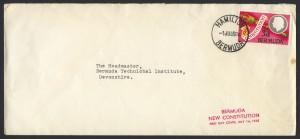 1968 Bermuda New Constitution 3d #10 FDC