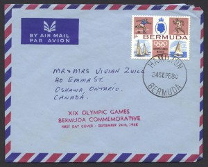 1968 XIX Olympic Games Mexico 1sch Air Mail FDC