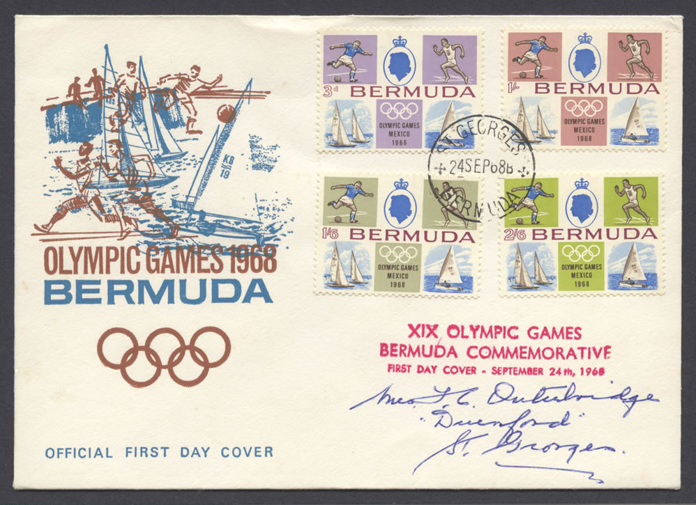 1968 XIX Olympic Games Mexico FDC