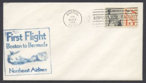 1969 First Flight Boston to Bermuda Northeast Airlines FF