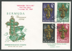 1669 Bermuda Treasure 1594 FDC