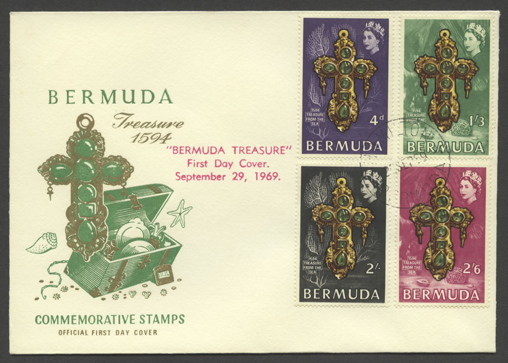 1669 Bermuda Treasure 1594 FDC