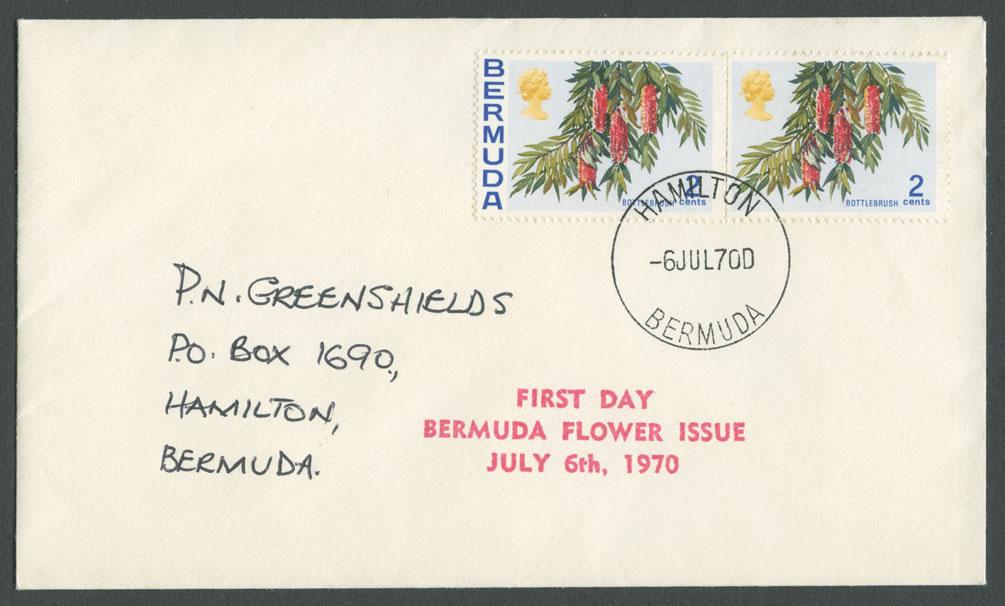 1970 Bermuda Flower Issue FDC