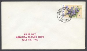 1970 Bermuda Flower Issue plain FDC