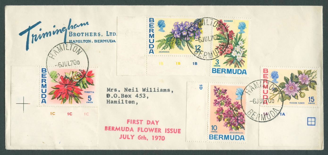 1970 Flower Definitives First Day 4