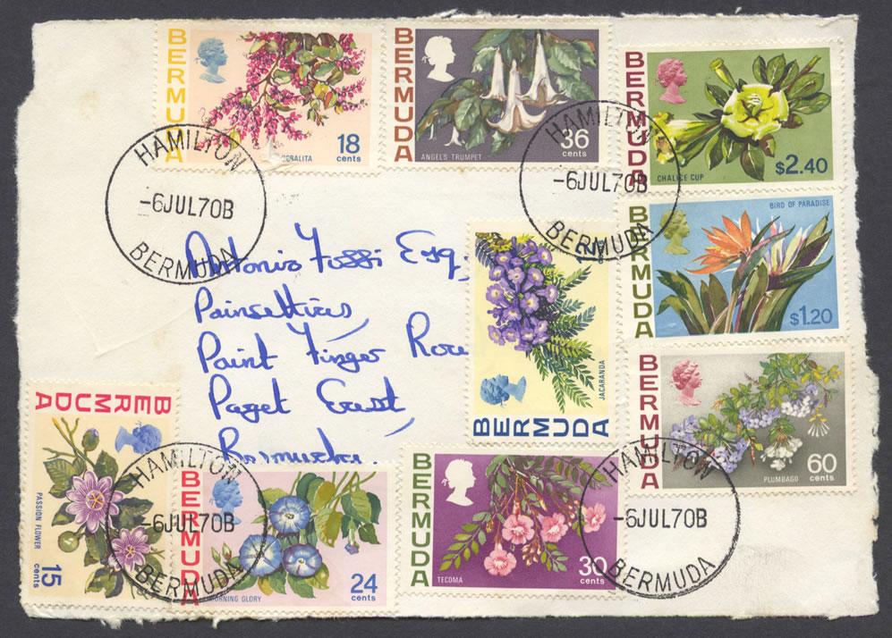 1970 Bermuda Flower Issue Piece FDC