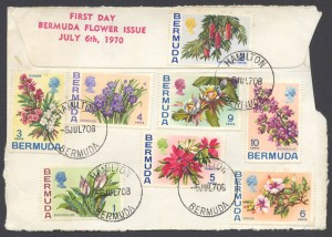 1970 Bermuda Flower Issue Piece FDC