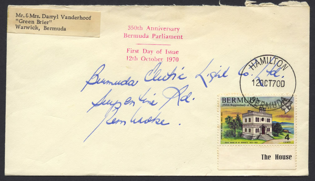 1970 350th Anniversary of Parliament 4c FDC