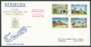 1970 350th Anniversary of Parliament FDC