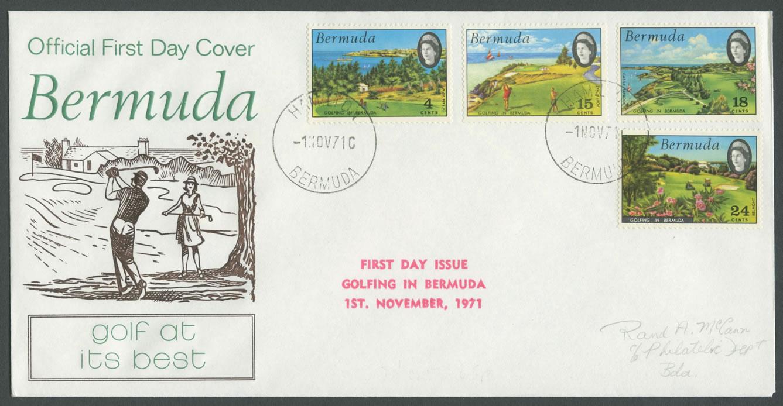 1971 Golfing in Bermuda FDC