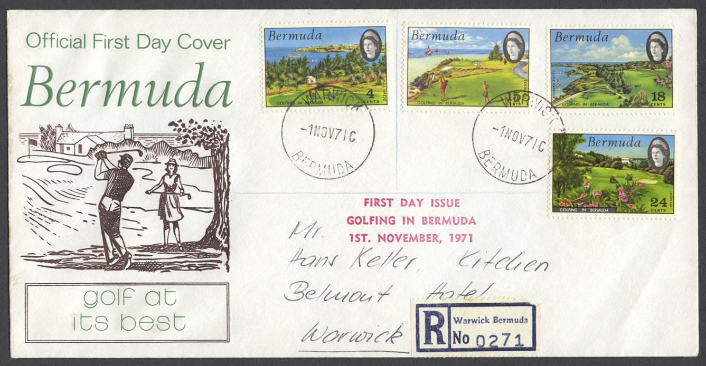 1971 Golfing in Bermuda Warwick FDC
