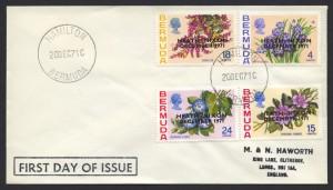 1971 Heath Nixon Bermuda Talks Overprint FDC