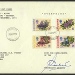 1971 Heath Nixon Bermuda Talks Overprint PMG signed FDC