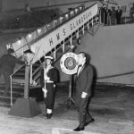 Heath Nixons talks - dinner on HMS Glamorgan