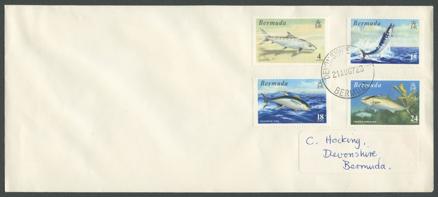 1972 World Fishing Records Plain FDC