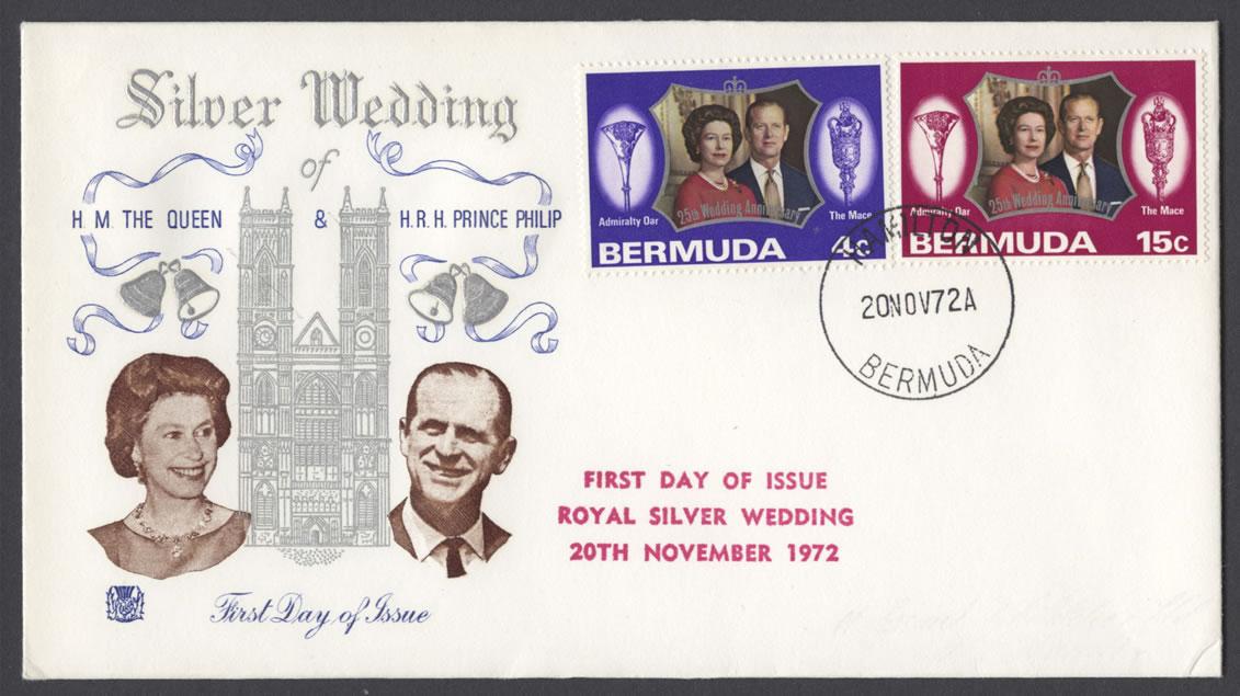 1972 Royal Silver Wedding Stuart FDC