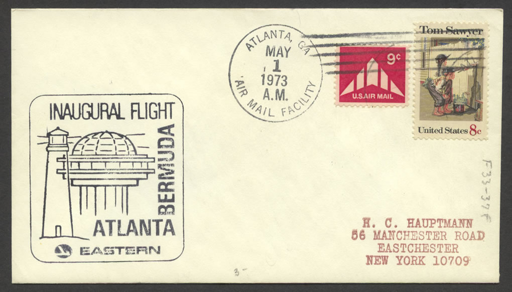 1973 Eastern Airlines Atlanta Bermuda First Flight