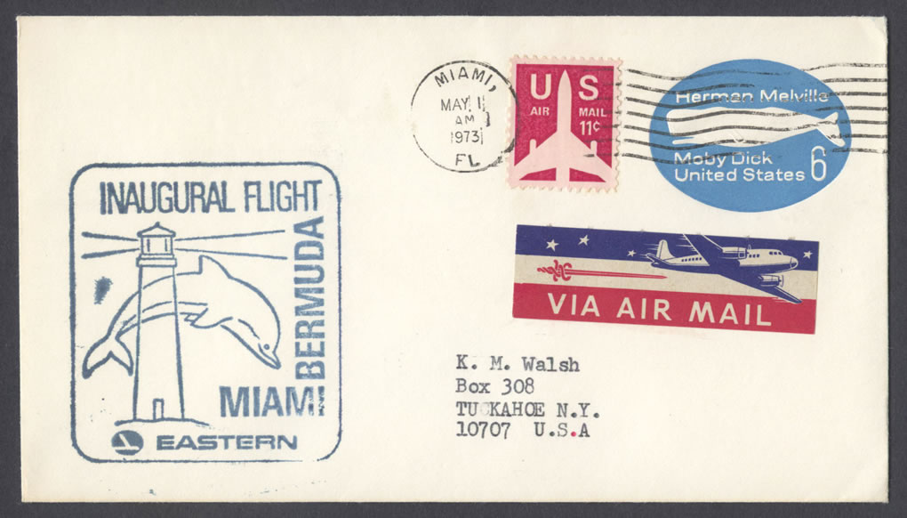 1973 Eastern Airlines Miami Bermuda First Flight