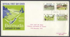 1973 Bermuda Centenary of Tennis FDC