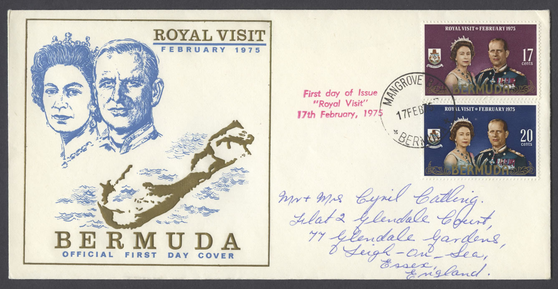 1975 Royal Visit FDC