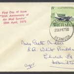 1975 50th Anniversary Air Mail Service 5c FDC