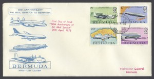 1975 50th Anniversary Air Mail Service FDC
