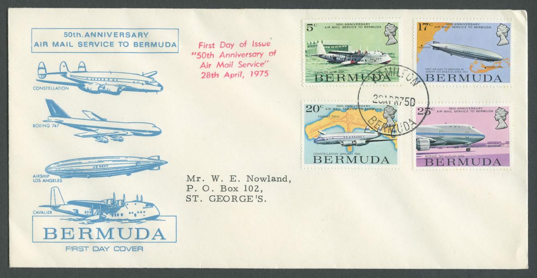 1975 50th Anniversary Air Mail Service FDC
