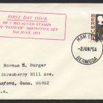 1975 Revalued Bermuda Flowers definitives 40c Hamilton FDC