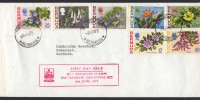 1975 Revalued Bermuda Flowers definitives Mangrove Bay FDC